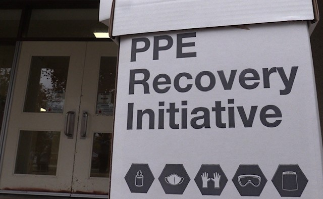 Nine PPE collection boxes are set up across Exeter, Ont.