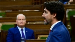 Prime Minister Justin Trudeau answers a question during question period in the House ofd Commons on Parliament Hill in Ottawa on Wednesday, Oct. 21, 2020. THE CANADIAN PRESS/Sean Kilpatrick
