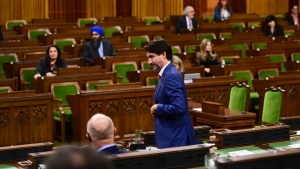 Prime Minister Justin Trudeau votes in the House of Commons on Parliament Hill in Ottawa on Wednesday, Oct. 21, 2020. THE CANADIAN PRESS/Sean Kilpatrick