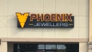 Phoenix Jewellers on Walker Road in Windsor, Ont. was the target of a jewelry heist that has since gone to trial shown in this photo on Wednesday, Oct. 21 2020. (Angelo Aversa/CTV Windsor)