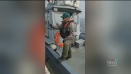 A video, taken by a Potlotek First Nation fisherman over the weekend, appears to show DFO officers in a confrontation with Mi'kmaw fishers.