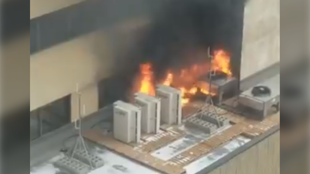Downtown Edmonton fire