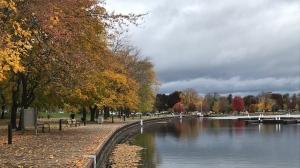 Orillia's waterfront in the fall 2020. (Rob Cooper/CTV News)