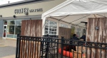 The Corner Bar and Grill says the TSSA showed up and turned off the fuel-fired heaters in an enclosed tent this week. (Saron Fanel/CTV News Ottawa)