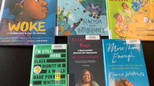 A Diverse Voices sections at the Waterloo Public Library (CTV News Kitchener)