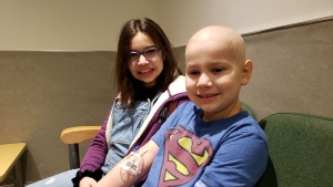 Abby Acosta-Pickering provided a stem cell transplant for her brother Oliver. (Photo courtesy: Dawn Pickering)