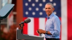 The event is Obama's first stump speech for his former vice president, a welcome sight to Democrats who see the former president as Joe Biden's most potent character witness and a key factor in encouraging Black men, Latinos and younger voters to turn out and vote. (Alex Edelman/AFP/Getty Images)