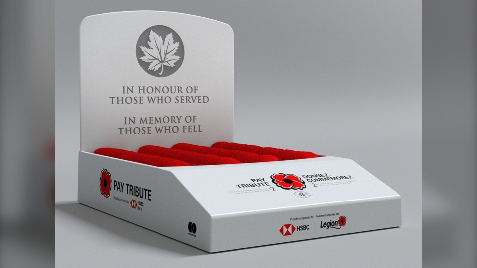 poppy donation box