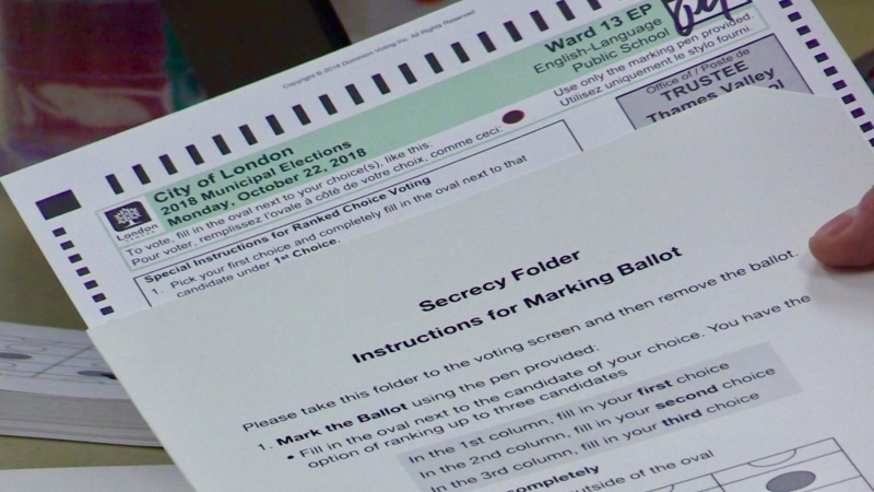 City of London 2018 Municipal Election ranked ballot.