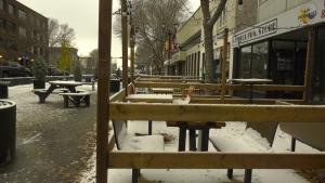 The Ross Street Patio in Red Deer, Alta. Oct. 21, 2020. (Nav Sangha/CTV News Edmonton)