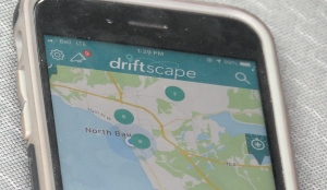 Tourism North Bay is hoping to boost local tourism by partnering with Driftscape, a smartphone app helps the user find hiking trails, local landmarks and tourism hot spots. (Eric Taschner/CTV News)