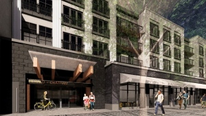 The proposed redevelopment of commercial property on the edge of Victoria's iconic Chinatown may loosen a tight rental market by adding 274 purpose-built rental suites to the city's stock. (Dencity Development Corp.)