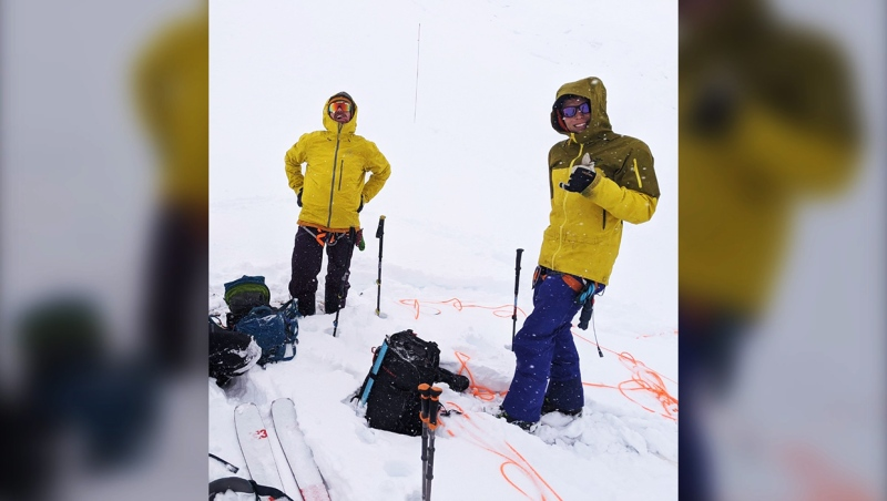 Konan Wendt (left) died Monday while out skiing on a backcountry tail in Kananaskis country