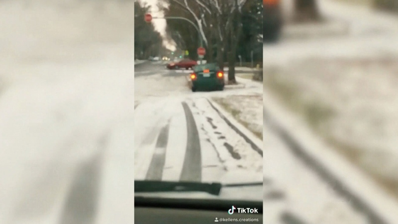 Regina drivers slip and slide in TikTok video