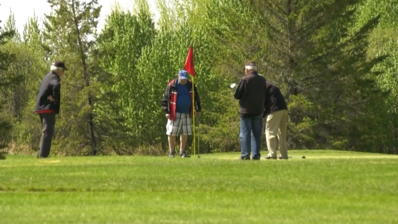 Golfers on an Alberta golf course. Oct. 21, 2020. (CTV News Edmonton)