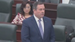 Premier Jason Kenney was present during Question Period at the Alberta legislature on Oct. 21, 2020. Later that same day, he went into self-isolation because of his close contact with a member of his cabinet who tested positive for COVID-19.
