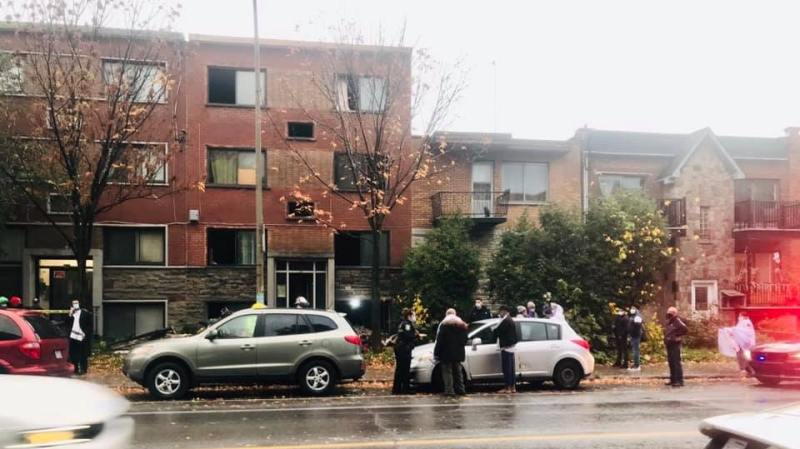 The aftermath of a fire on Querbes Ave. in Parc-Extension on Oct. 21, 2020 (Photo: Sasha Dyck)