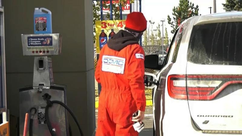 The gas price gap between Edmonton and Calgary is growing. Alesia Fieldberg tells us why.