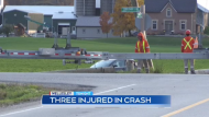 Crash in Wellesley Township sends thee to hospital