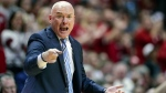 Penn State head coach Pat Chambers gestures during an NCAA college basketball game, on Feb. 23, 2020. (Michael Conroy / AP)