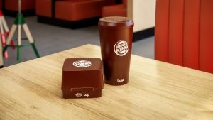 Burger King's new reusable packaging. (Burger King/CNN)
