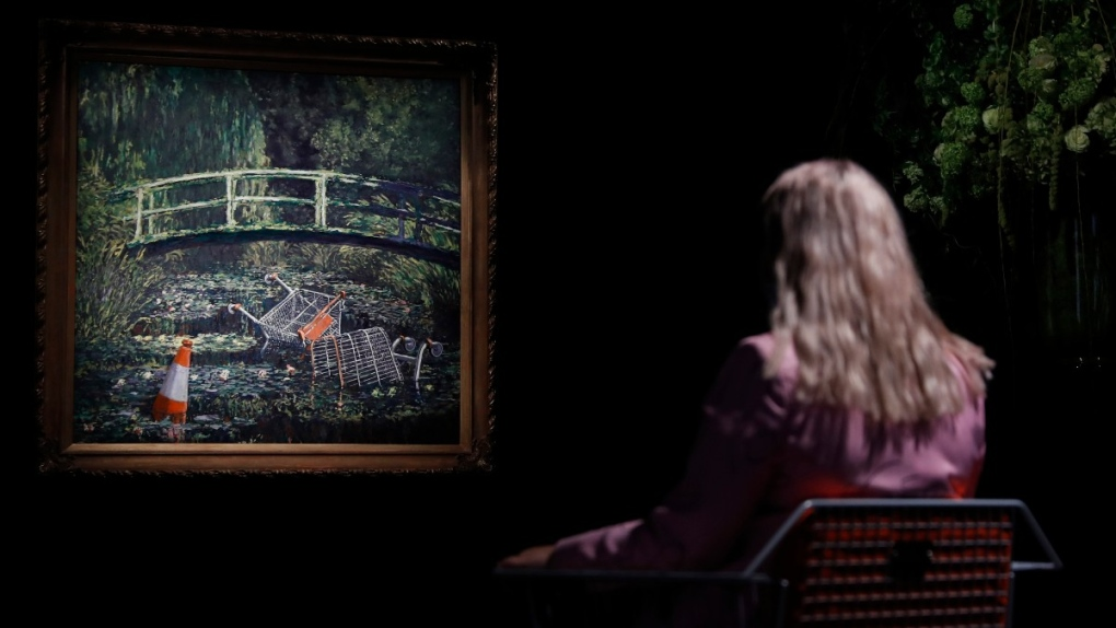 Banksy's 'Show Me The Monet' at Sotheby's