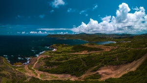 Construction for the Cabot Point golf course in northern St. Lucia is shown. (Commissioned by Akim Ade Larcher)