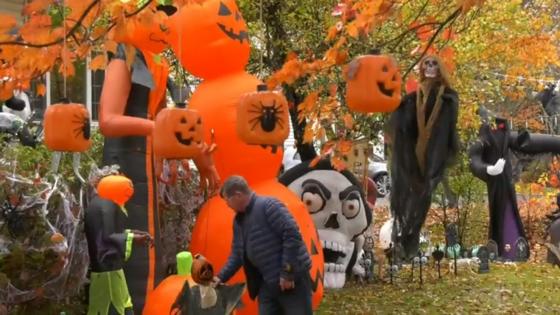 Jim Pashkoski is notorious in his Middle Sackville, N.S., neighbourhood for intricate Halloween and Christmas decorations.
