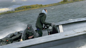 RCMP searching for two suspects after contraband tobacco was tossed into the St. Lawrence River. (Photo courtesy: RCMP)