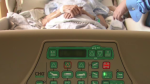 Patient and caregiver at hospital (file)