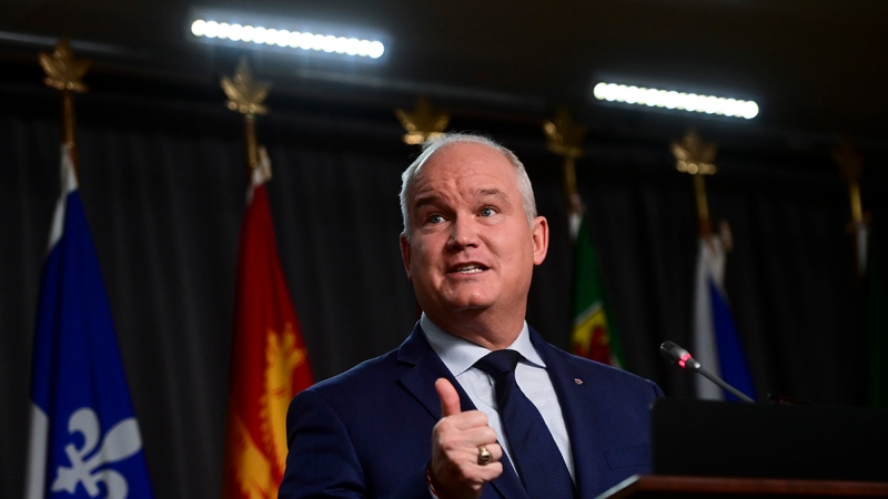 Conservative leader Erin O'Toole holds a press conference in Ottawa on Thursday, Oct. 22, 2020. (THE CANADIAN PRESS/Sean Kilpatrick)