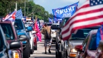 Trump supporters attend an 'Anticommunist Caravan' of cars in Miami, Florida. (Gaston de Cardenas/AFP/Getty Images/CNN)