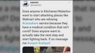 Tweet about Walmart