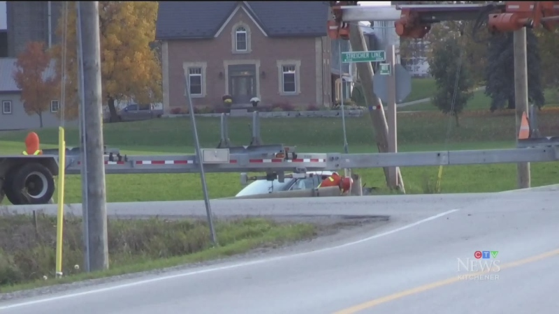 Vehicles hit two different hydro poles after crash