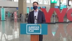 Doug Schweitzer, Alberta's minister of jobs, economy and innovation, announced a rapid COVID-19 testing pilot for international travellers that will be introduced at the Calgary International Airport in November
