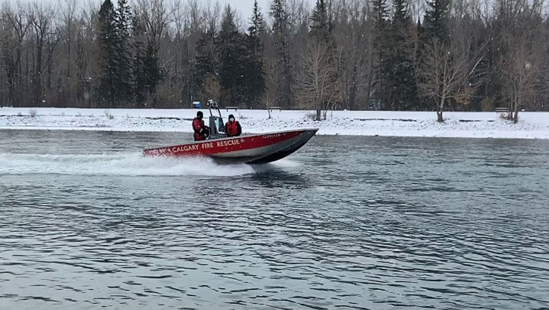 The Calgary Fire Department's aquatic rescue team is just one unit tasked with searching the Bow River for the remains of missing people.