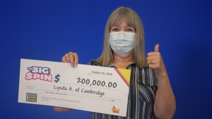 Lynda Arsenault won $200,000 in a lottery play (Supplied: OLG)