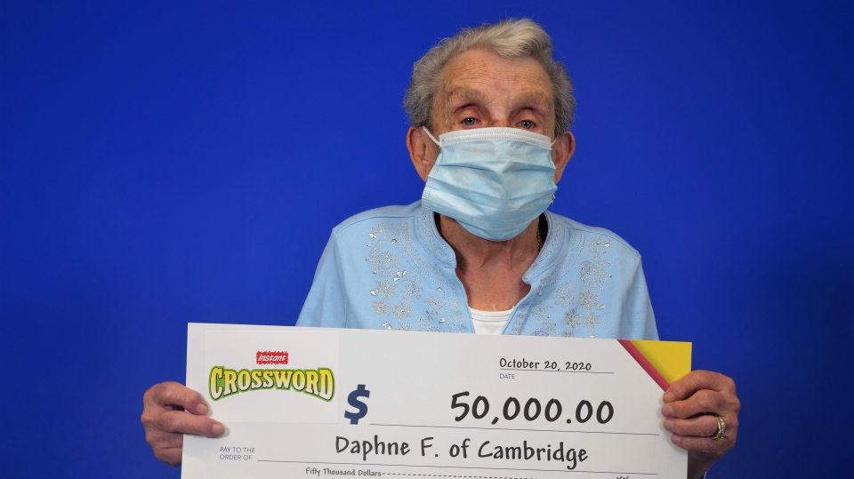 Daphne Fava won $50,000 (Supplied: OLG)
