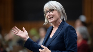 Minister of Health Patty Hajdu responds to a question during Question Period in the House of Commons, Thursday, October 22, 2020 in Ottawa. THE CANADIAN PRESS/Adrian Wyld