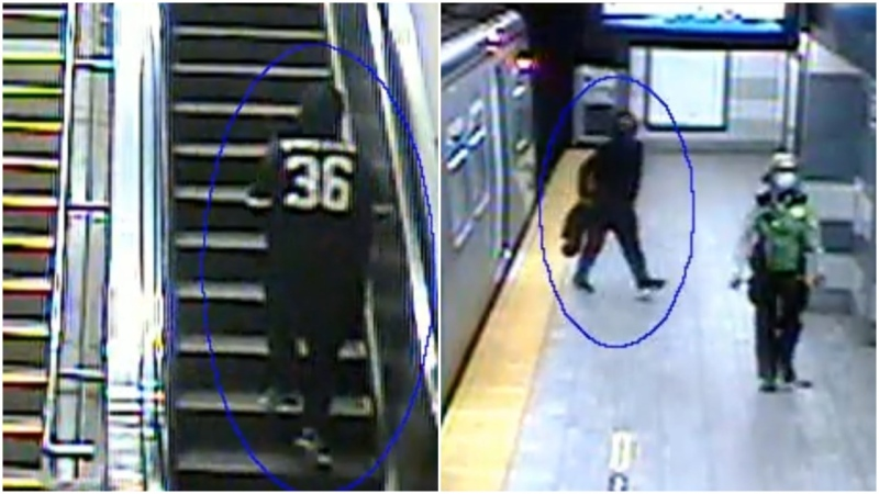 Photos show the suspect in a robbery at gunpoint in Vancouver.