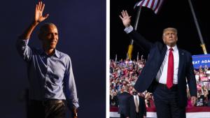 Obama Trump rallies