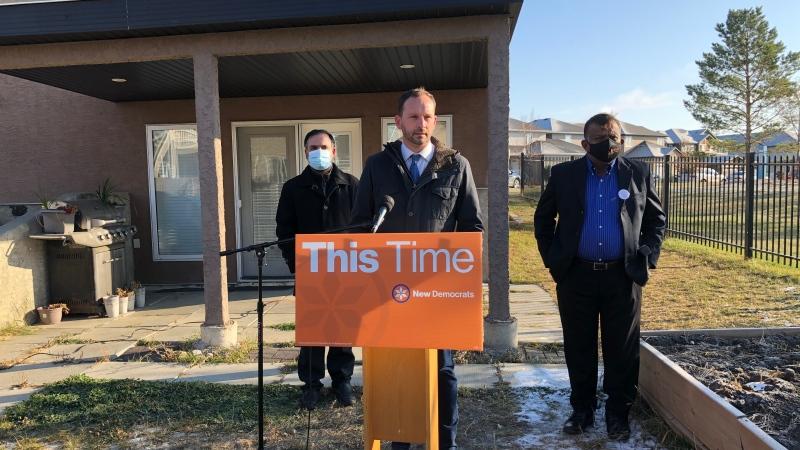 NDP Leader Ryan Meili speaks during an Oct. 22 campaign event in Saskatoon. (Pat McKay/CTV News)