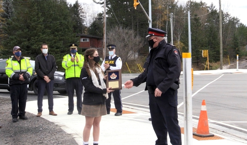 Katlyn Van Horn, 17, has campaigned for lights to be installed since her former bus driver was seriously injured at the intersection four years ago. (Eric Taschner/CTV News)