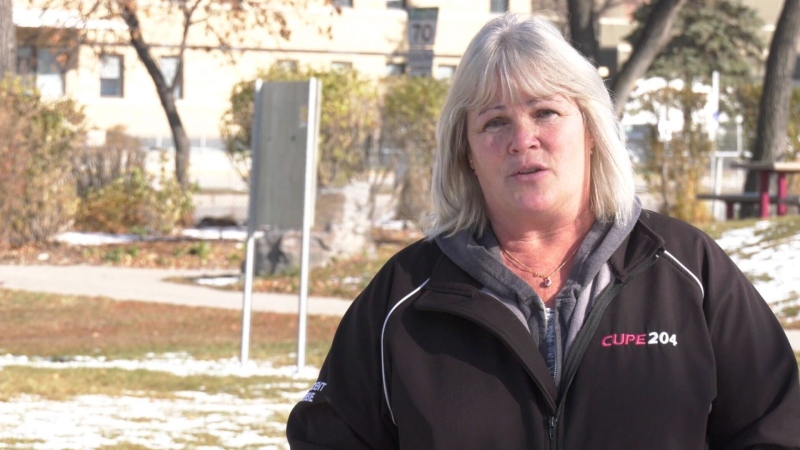 Debbie Boissonneault is the president of CUPE 204, which represents 14000 health support workers in the WRHA and Shared Health.  The union has filed grievance because it says workers aren't being told when they're going into the home of someone who's been diagnosed with COVID-19. (Oct. 22, 2020. Source: Josh Crabb/CTV News)