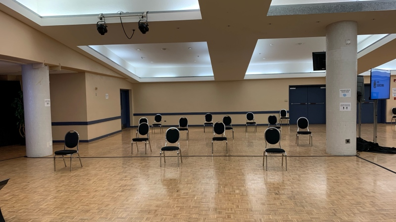 In Regina, the Conexus Arts Centre is being used for jury selection and jury trials. (CTV News)