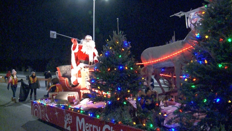 The Barrhaven Santa Claus parade.