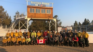 Parks Canada firefighters were in Oregon battling the most devastating wildfire in the state's history. (Parks Canada)