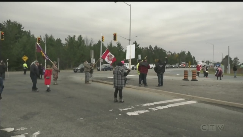 There was another highway closure in the Garden River area Thursday to draw attention to Nova Scotia's Indigenous lobster fishery dispute.
