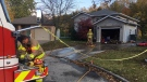 Fire on Shinglecreek Crescent, Thursday October 22, 2020 (Chis Campbell / CTV News)