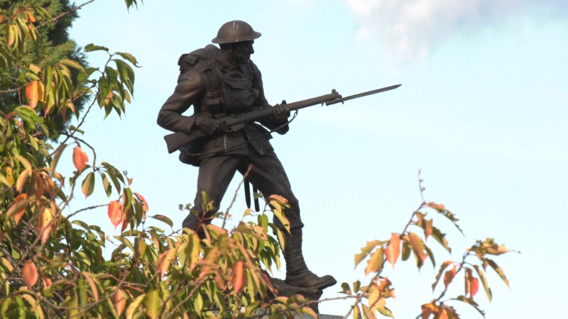 Victoria's annual Remembrance Day ceremony will be significantly scaled back this year due to the COVID-19 pandemic.